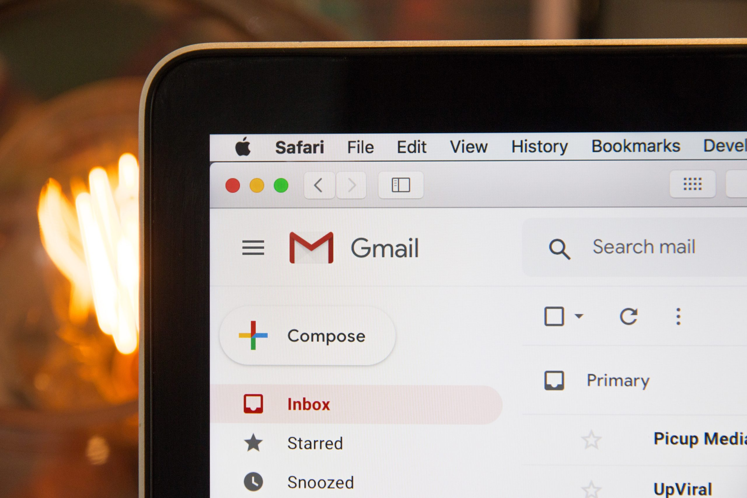gmail account open to the inbox