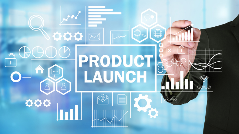 Product Launch, Motivational Business Marketing Words Quotes Concept