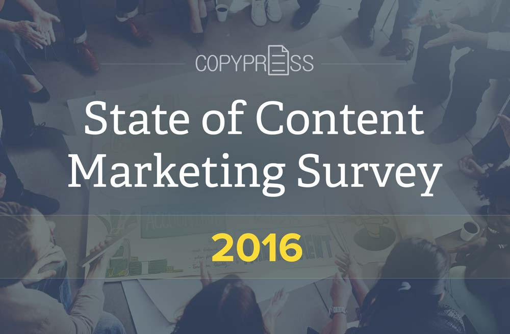 The State of Content Marketing Survey 2016 is Open