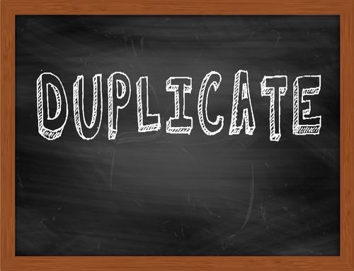 Duplicate on chalkboard
