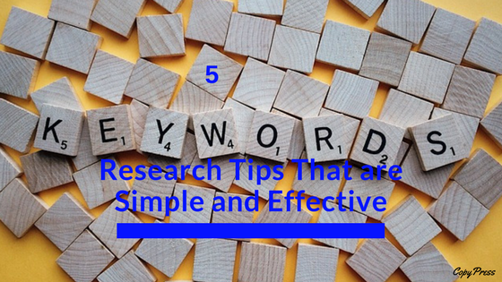 5 Keyword Research Tips That Are Simple and Effective