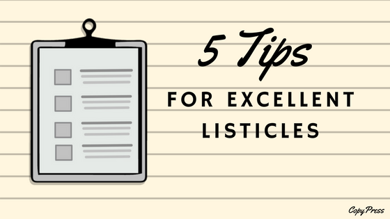 5 Tips for Excellent Listicles