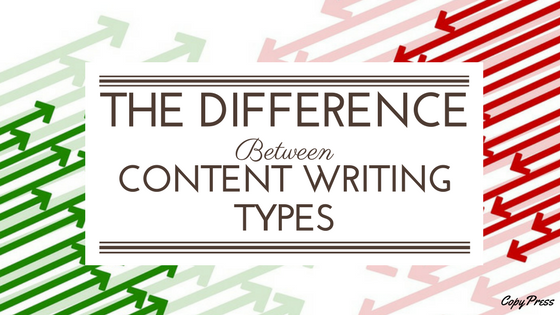 The Difference Between Content Writing Types