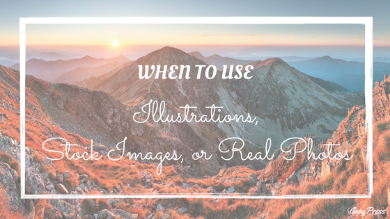 When to Use Illustrations, Stock Images, or Real Photos
