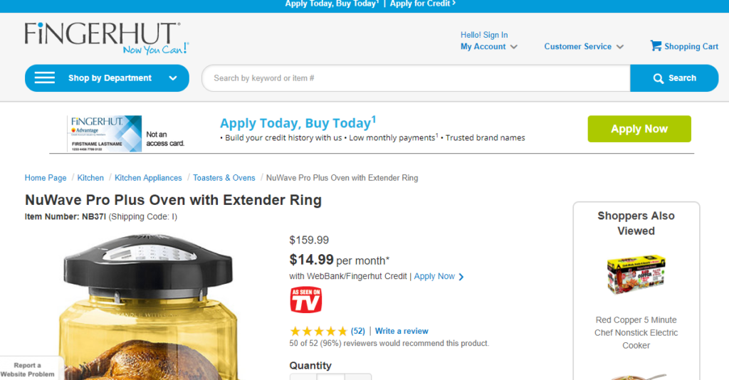 Fingerhut second example of unclear path
