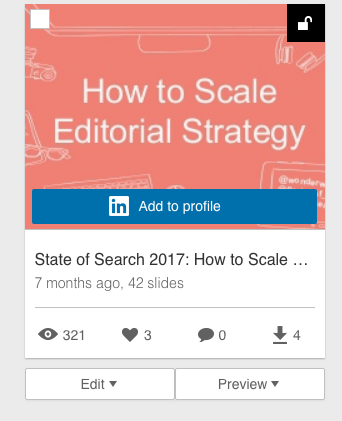 Using slides on LinkedIn