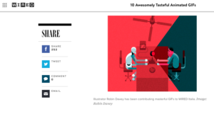An illustrated GIF from Wired