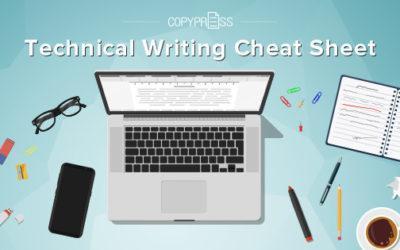 Technical Writing Cheat Sheet