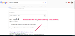 When Google shows an Answer box, other resources get pushed below the fold