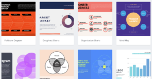 You can use Canva to create graphs and charts