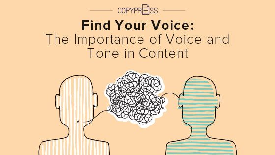 Voice and tone is important aspects of successful content.