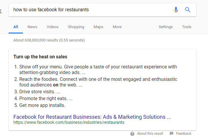 An Example of a Google Answer Box