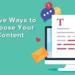 Repurpose your blog content.