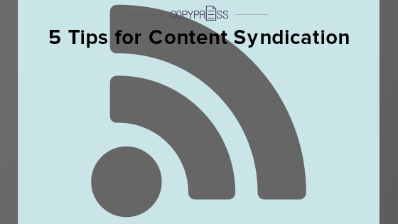 Content syndication tips