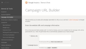 Build UTM codes to track goals.