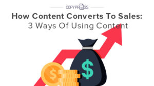 Content converts to sales if created properly