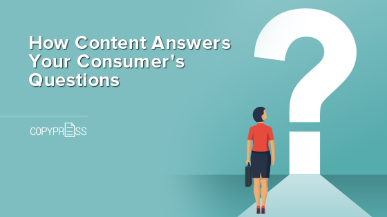How content answers consumer's questions