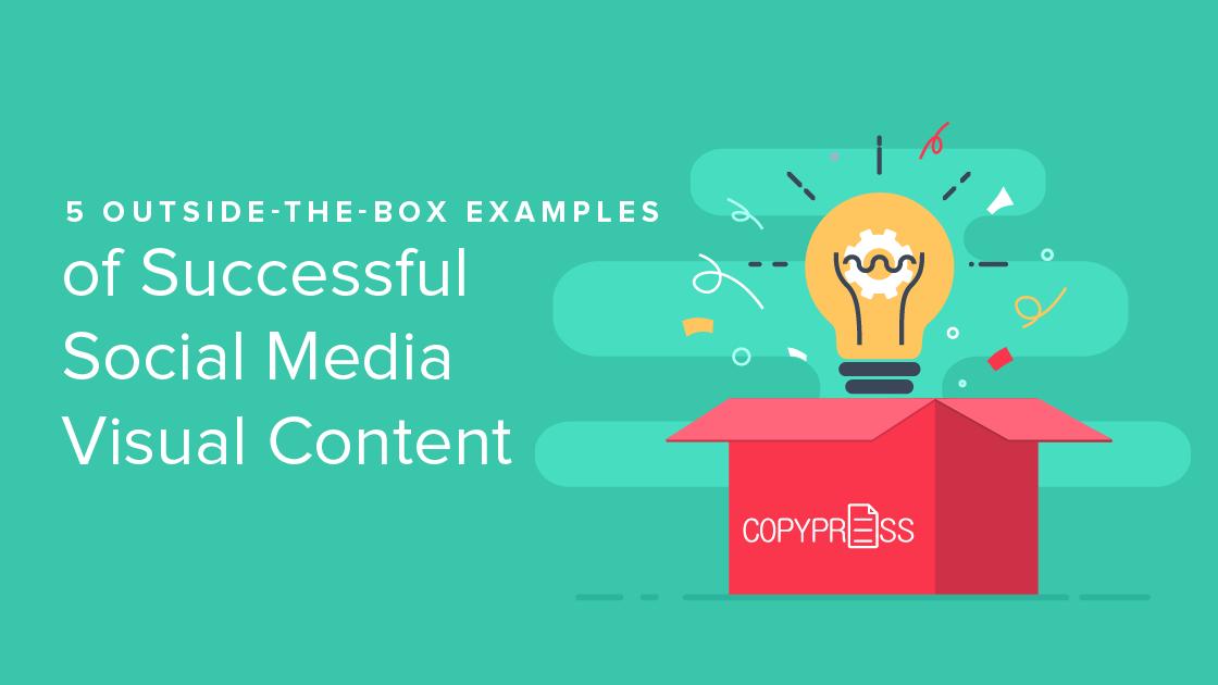 Social media visual content examples