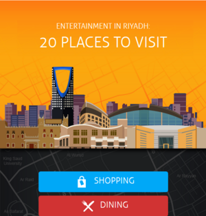 Interactive infographic samples - Entertainment in Riyadh