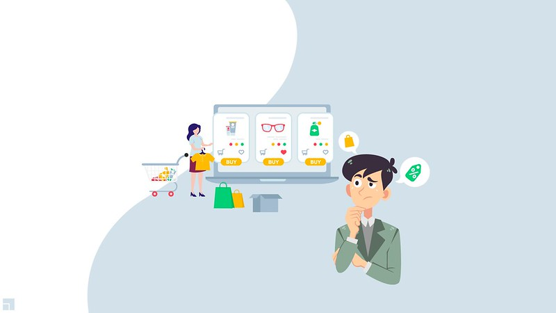 graphic showing a man wondering about a customer