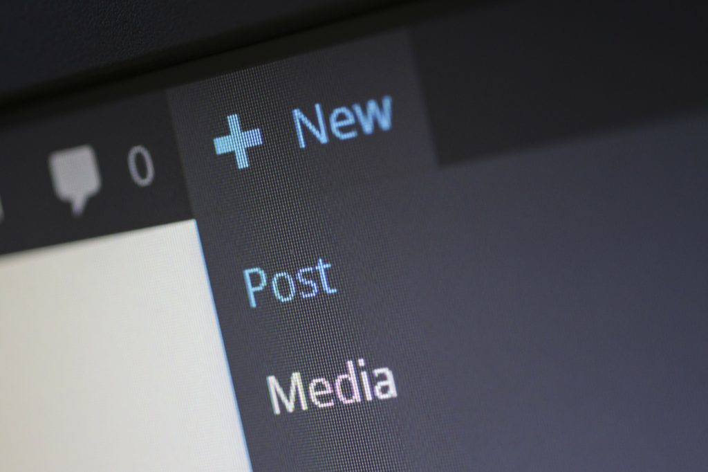 The New Post Button on WordPress for Content Creation