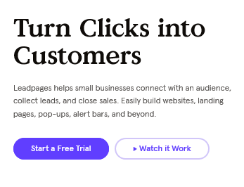 leadpages CTA button