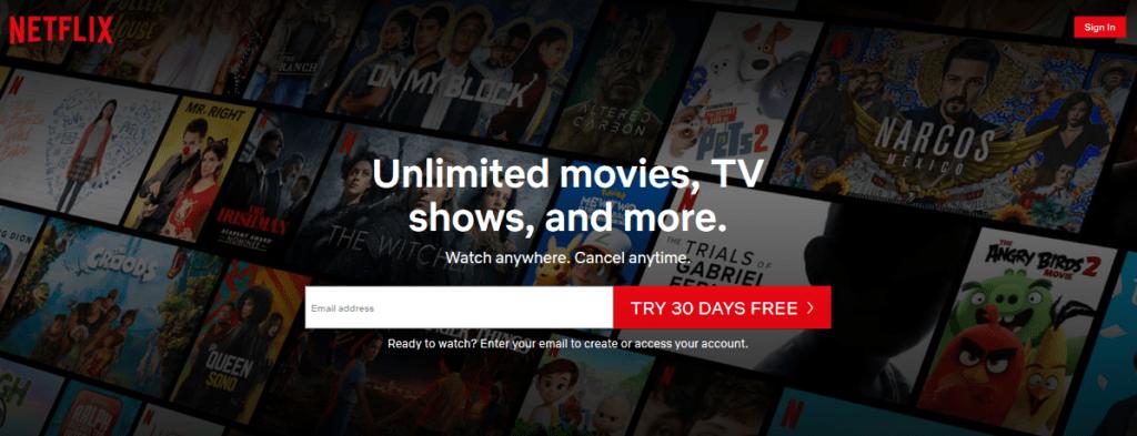 Netflix CTA Example