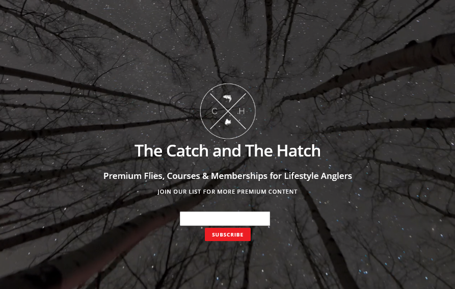 Home Page of The Catch and the Hatch Website