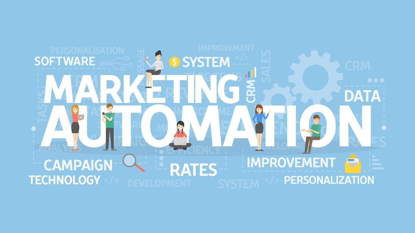 Marketing automation concept illustration.
